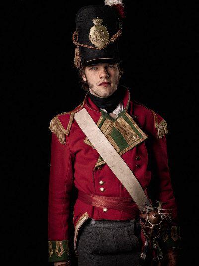British Line Officer 200th Waterloo