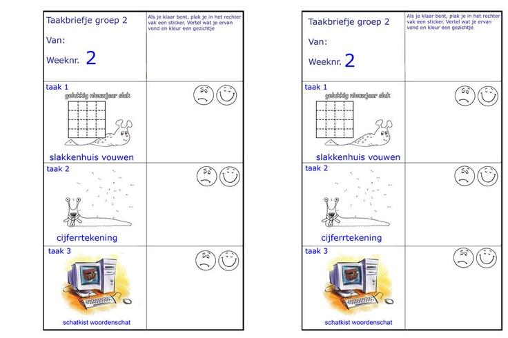 taakbriefjes groep 2