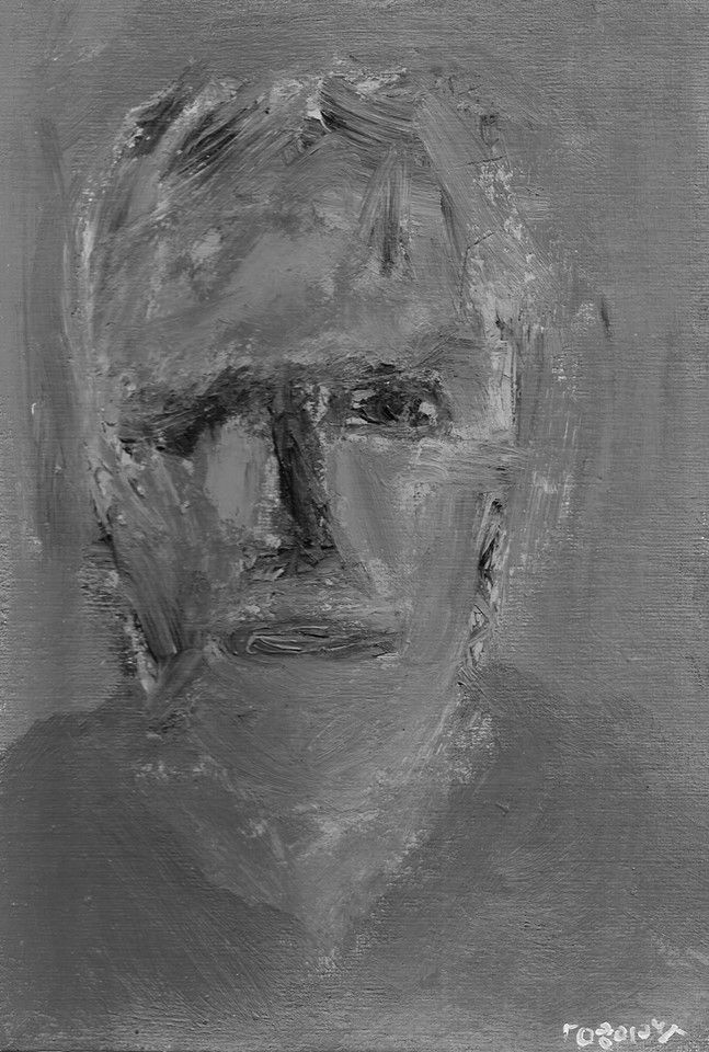 Selfportrait , by Yorgos ΖΗΤΩ (2004)   /black&white reproduction/