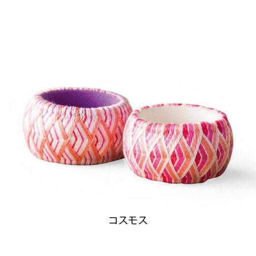 華やか加賀ゆびぬきの会 / コスモス ◆ embroidery work - thimble of Kaga / cosmos