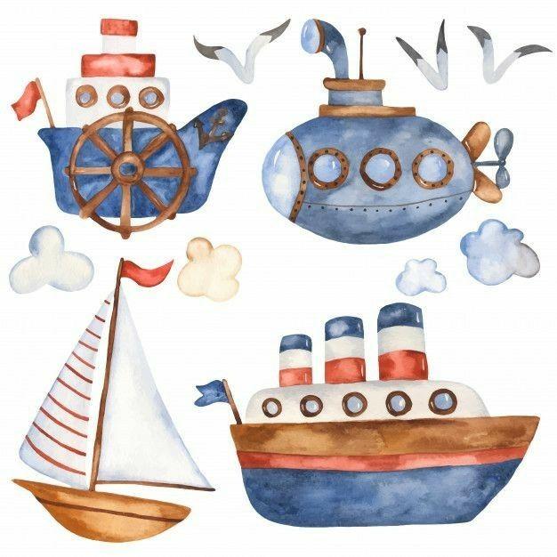 Pin By 5512997589075 On Infantil Boat Cartoon Baby Art Cute Cartoon