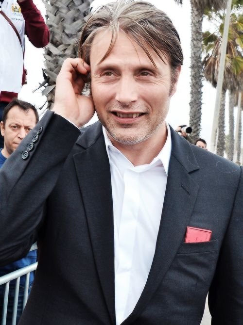 Mads & Hannibal — mikkelbabe:    mads being absolutely adorable @...