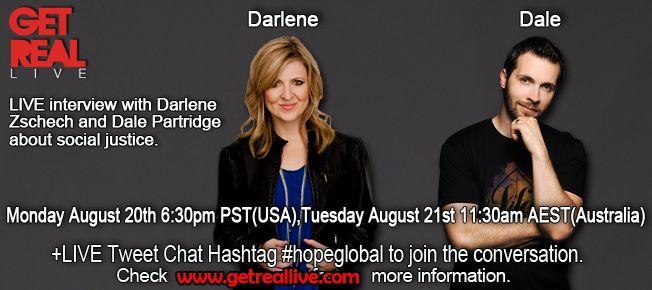 Darlene Zschech & Dale Partridge Live talking about #hopeglobal
