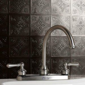 brylanehome peel and stick wall metal embossed tiles renter friendly design pinterest. Black Bedroom Furniture Sets. Home Design Ideas