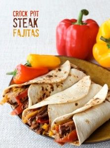 crock pot steak fajitas