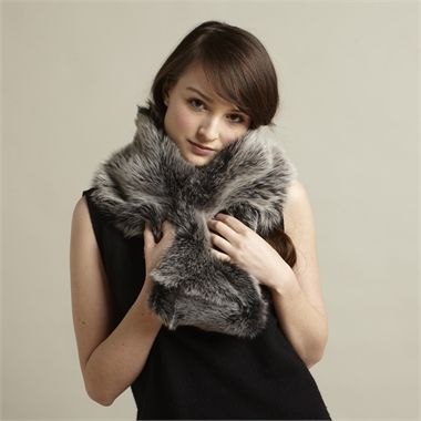 Toscana Sheepskin Snood, Silver by Eileen Wada Willett Available at seekandadore.com