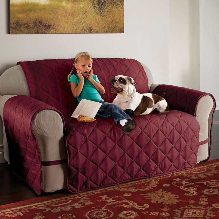 Innovative Textile Solutions Microfiber Ultimate XL Sofa Protector, Red