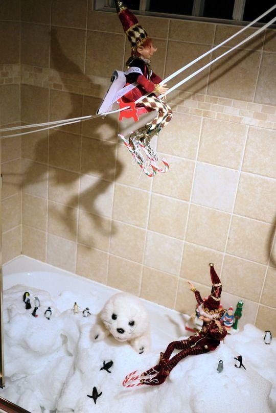 Transformation de la baignoire en banquise.