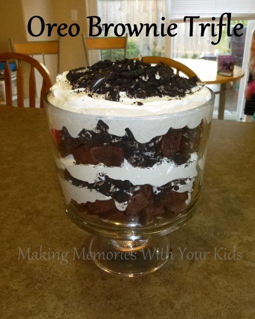 Oreo Brownie Trifle