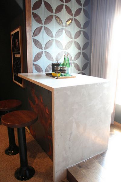 concrete countertop using ardex feather finish in white