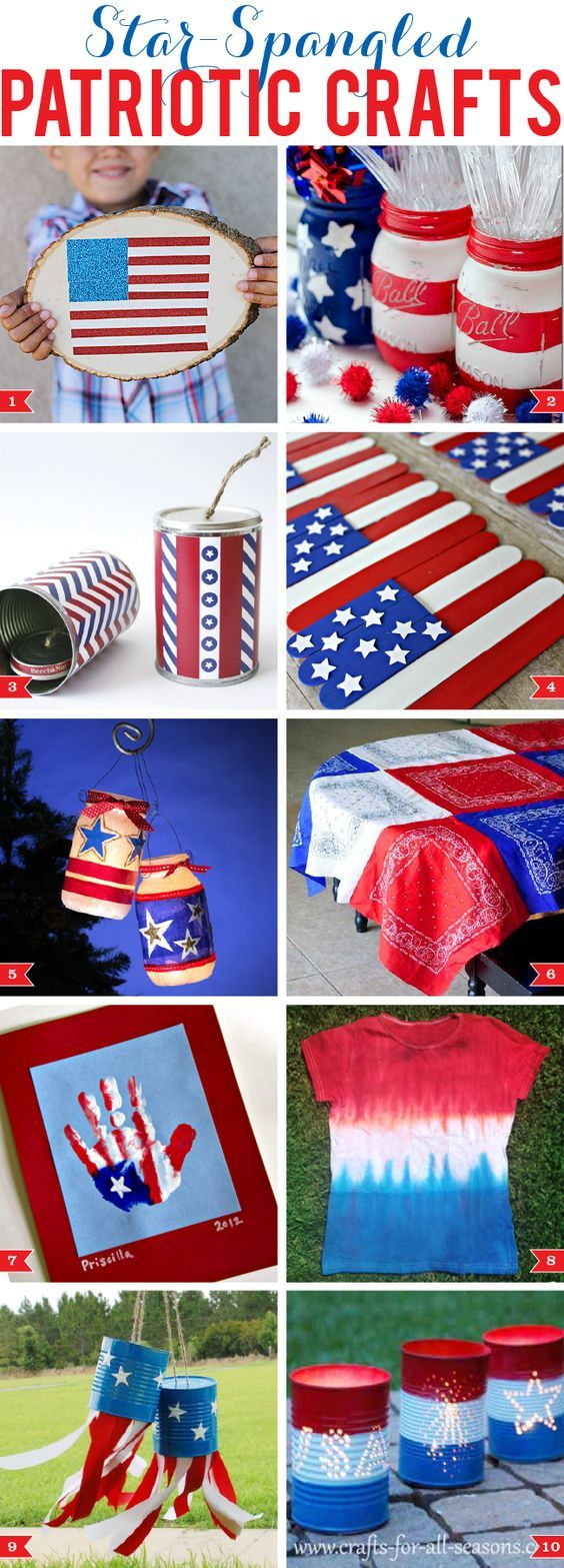 Star-spangled patriotic crafts!  LOVE these 4th of July crafts!