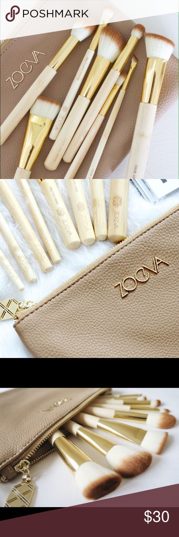 Zoeva bamboo vol.2 brush set-NWT FACTORYSEALED never used- factory sealed in package comes with 8 brushes and zoeva bag - 128 cream cheek brush,103 defined buffer brush,109 face paint brush,105 highlight brush,142 concealer, buffer brush, 317 wing liner brush,232 classic shader brush,227 soft definer brush zoeva Makeup Brushes & Tools