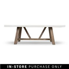 ivory dining room table 230cm