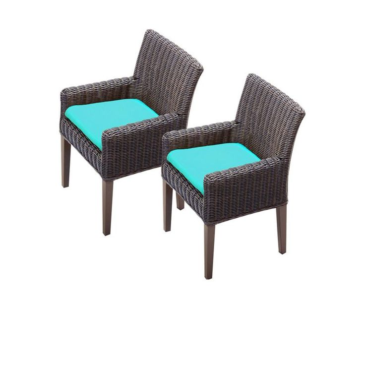 "Miseno MPF-TKC099BDCC Mediterranean 2-Piece 35"" Tall Aluminum Framed Outdoor Din Aruba Furniture Outdoor Furniture Outdoor Dining Chairs"