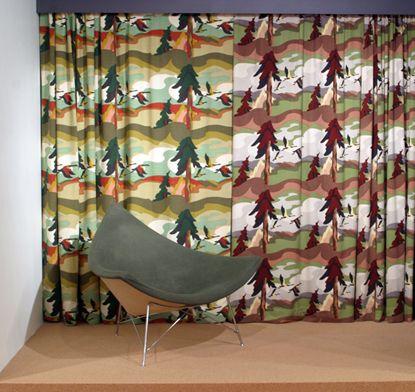 Sunridge/Geese in Flight Curtain by Thor Hansen/A.B. Caya Ltd. (1950).