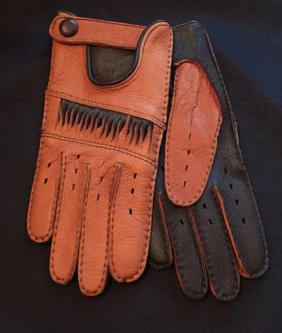 Men's deerskin leather Gloves for drivinggloves for men