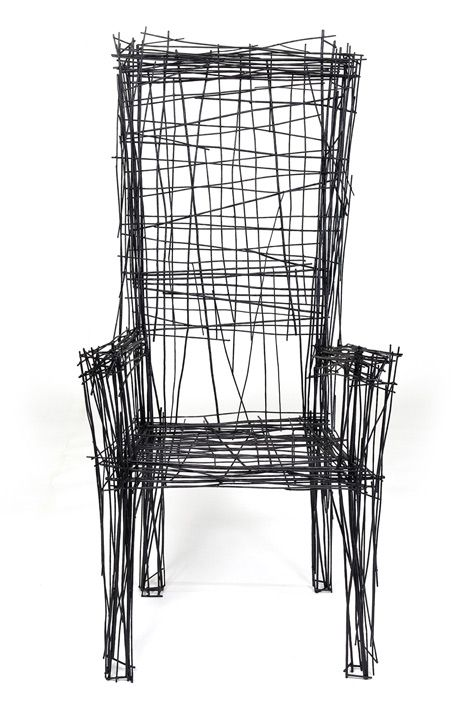 South Korean designer Jinil Park has created a range of furniture from intersecting wires that has the appearance of a two-dimensional sketch.