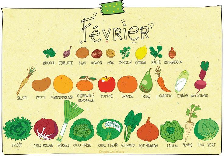 Février - Calendrier des fruits et légumes