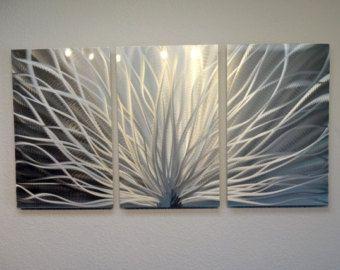 Metal Wall Art Decor Abstract Contemporary Modern by InspiringArt