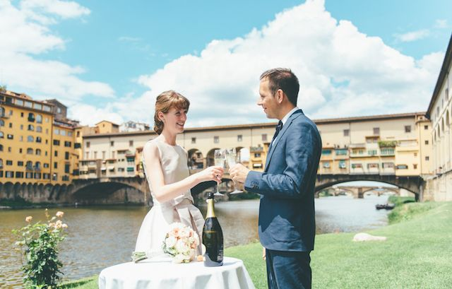 Elopement in Florence, Italy | FunkyBird Photography | see more on: http://burnettsboards.com/2015/01/florence-elopement/