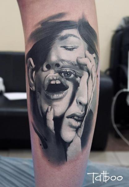 Arm Frauen Abstrakt Tattoo von Valentina Riabova