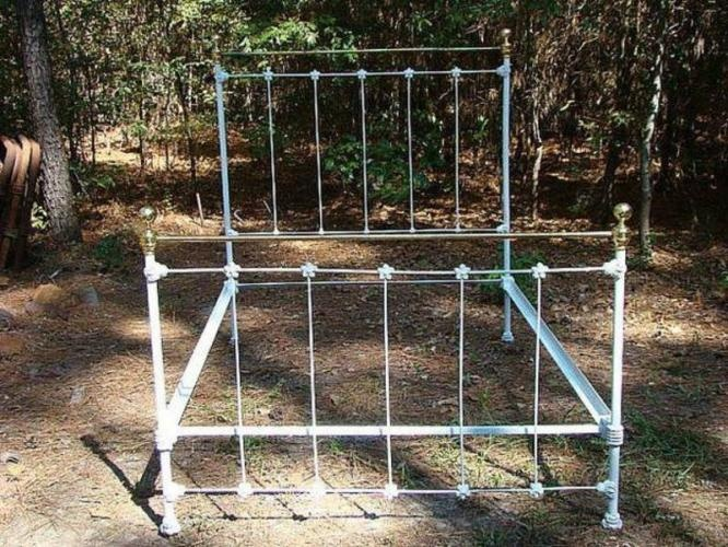 iron bed frame- love it!