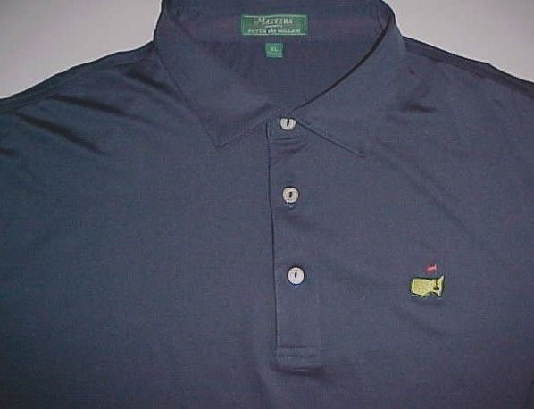 The Masters Tournament US Collection Peter Millar Golf Men Blue Polo Shirt XL #Masters #PoloRugby