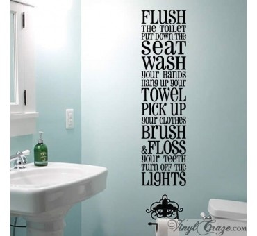 17 best images about bathroom rules on pinterest vinyls for Bathroom wall letters