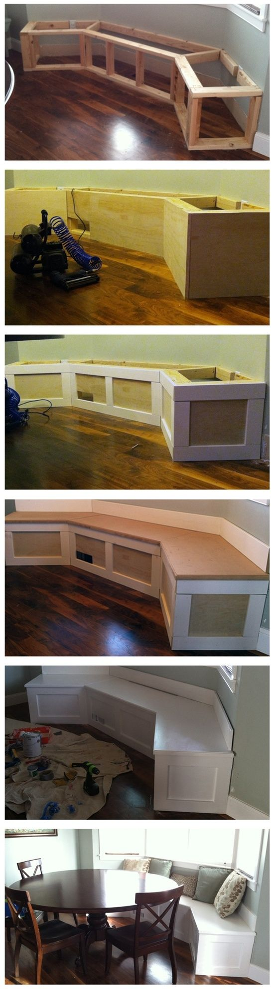 Bay Window Bench seat/storage.  Now if only I could acquire the skills to be that handy