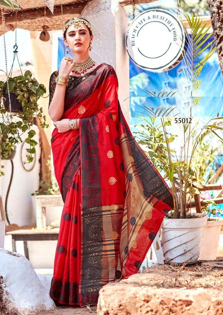 3c3c927689 Ravishing Cotton Silk Embroidered Party Wear Saree in 2019   Saree ...