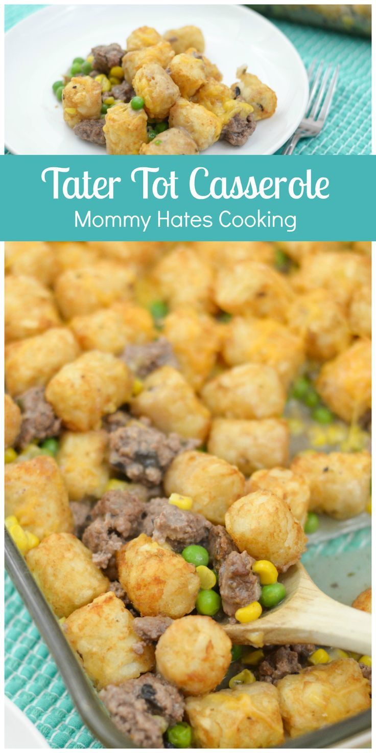 This Easy Tater Tot Casserole will help you make a pleasing dinner for the entire family in just a few short minutes with minimal ingredients!