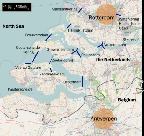 The Netherlands has built a massive system of locks, dams and sea gates to protect the country from storm surges.