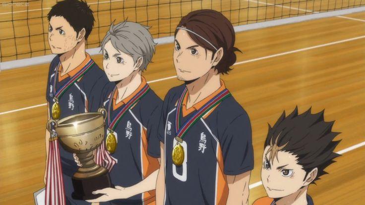I'm so proud of them, you don't even know how I'm happy for my babies   #haikyuu #karasuno #karasunowon
