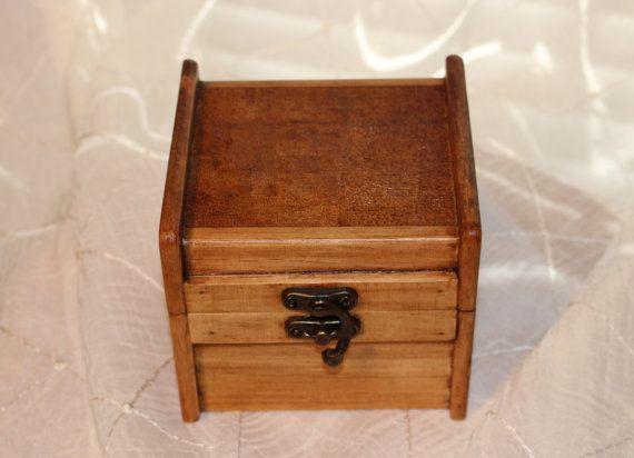 Hand burned Wooden Trinket Box Woodburned Box by SpoiledFelinesArt