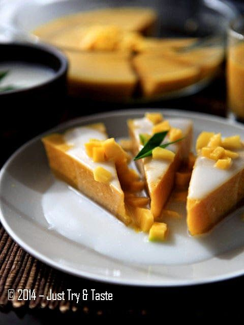 Just Try & Taste: Puding Mangga Nan Simple dengan Vla Susu