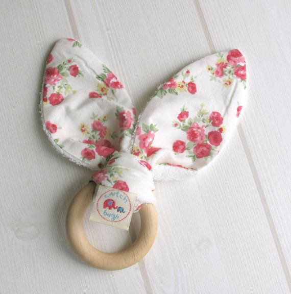 Natural Wooden Teething Ring Soother in 'Summer by CwtchBugs, £8.50