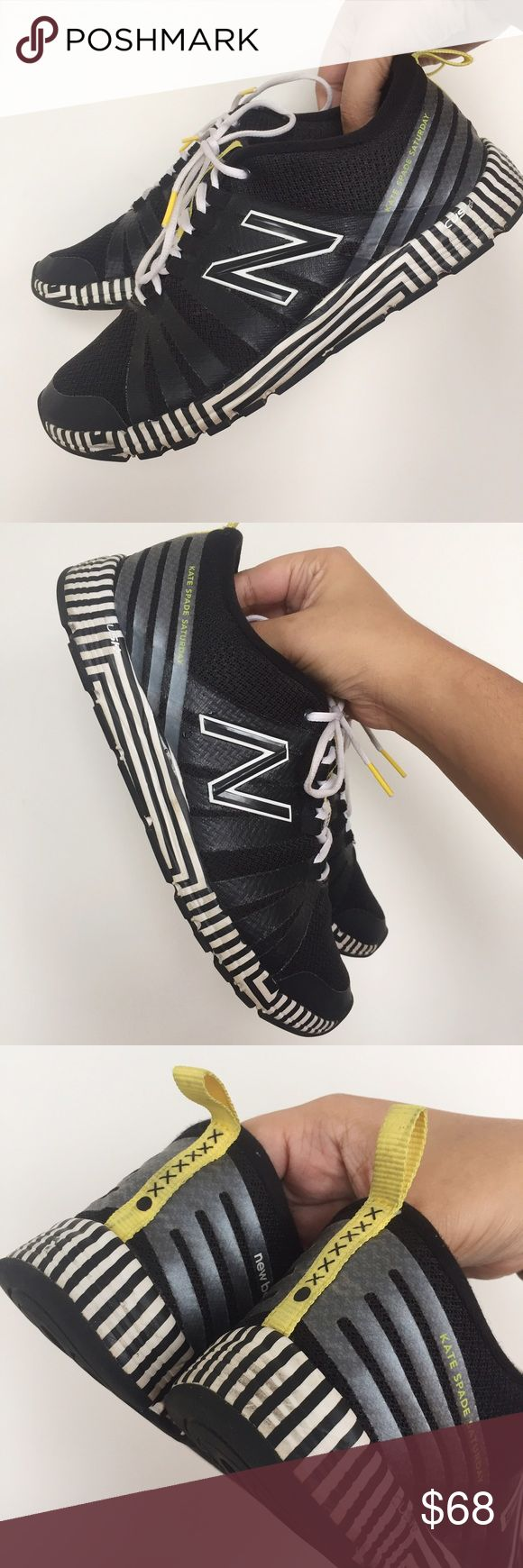Kate Spade Saturday x New Balance 811 Sneakers Kate Spade Saturday was the sister (daughter?) to Kate Spade NY. The line was discontinued in early 2015, and was incorporated into the main Kate Spade brand. These were in collaboration w/ New Balance in Winter '14. They're so chic and comfortable! I haven't reached for them in months. They are great to wear with a pair of boyfriend jeans and a tee for the casual (or lazy Sunday) look. There are dirt stains but can easily be removed with a good…
