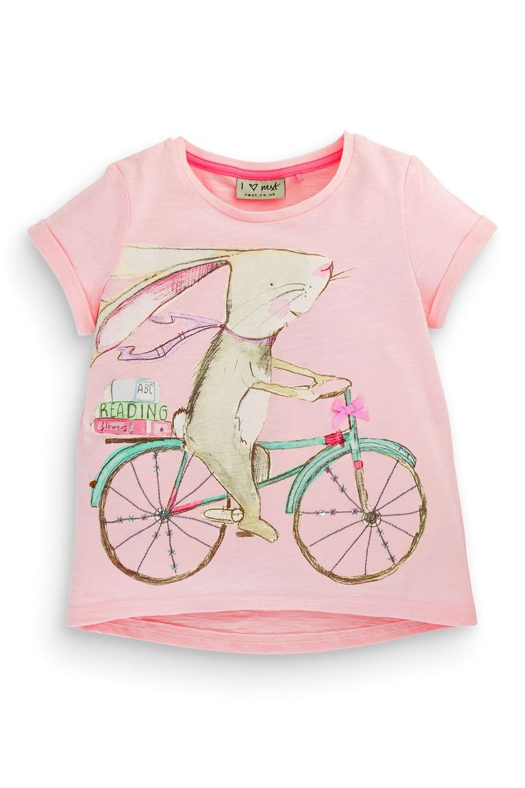 Buy Pink Bunny On Bike Top (3mths-6yrs) from the Next UK online shop