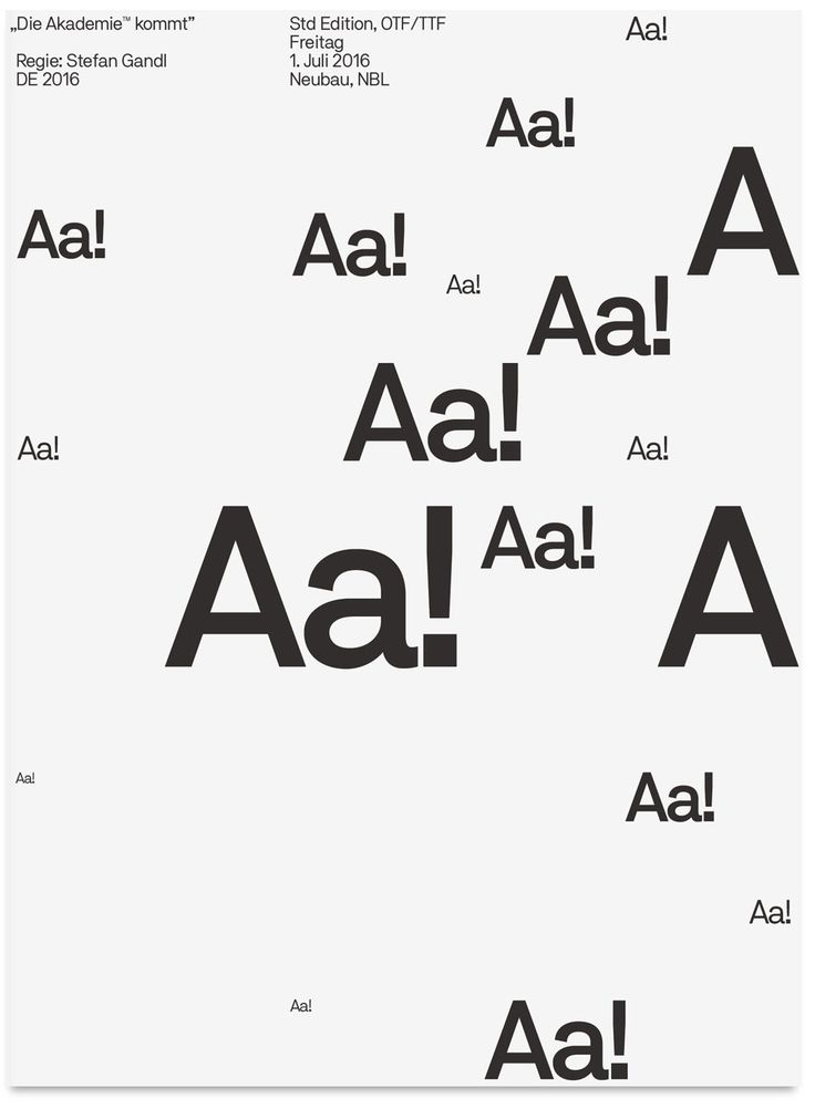 After the successful release of Neubau's popular NB International™ Pro in 2014, let's introduce its conceptual successor:NB Akademie™ Std/ProNB Akademie™ is a contemporary grotesque type system designed by Stefan Gandl comprising of 20 styles: Light, …