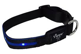 Yippr Lighted Dog Collars - USB Rechargeable LED Pet Collar. To get more information visit https://www.yippr.com/led-dog-collars/