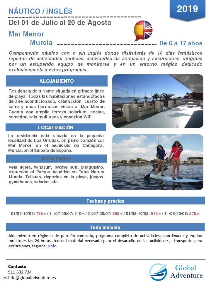 Campamento Náutico Con O Sin Inglés En Mar Menor Murcia Murcia Campamento De Verano Campamento