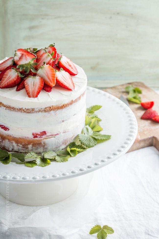 Strawberry Lemon Cake   Klitzeklein