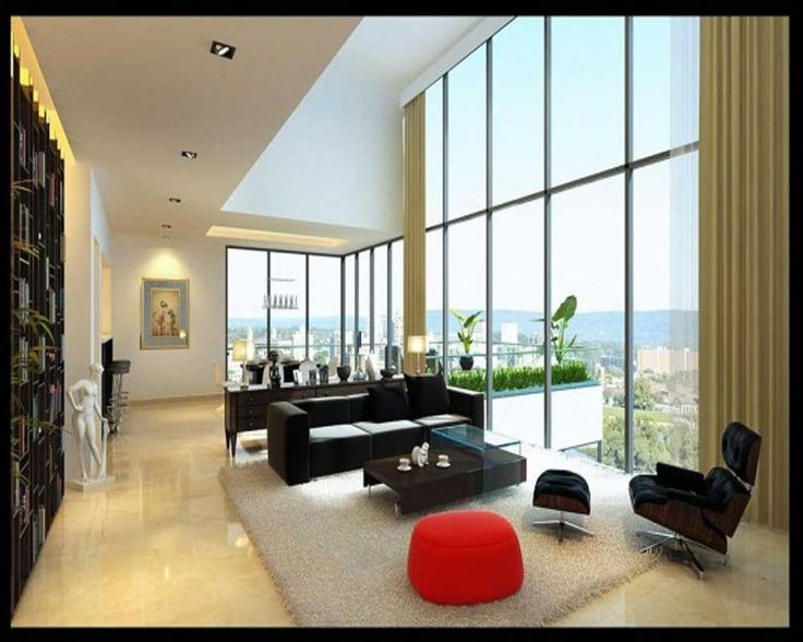 Decorating Ideas for Long Living Rooms with large window