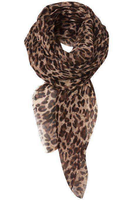 Leopard Pattern Shawl Scarf Wrap