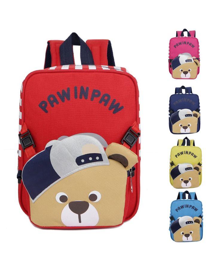 Вы можете удвоить обратно курьеру двойной буквы Медведь детские школьные сумки