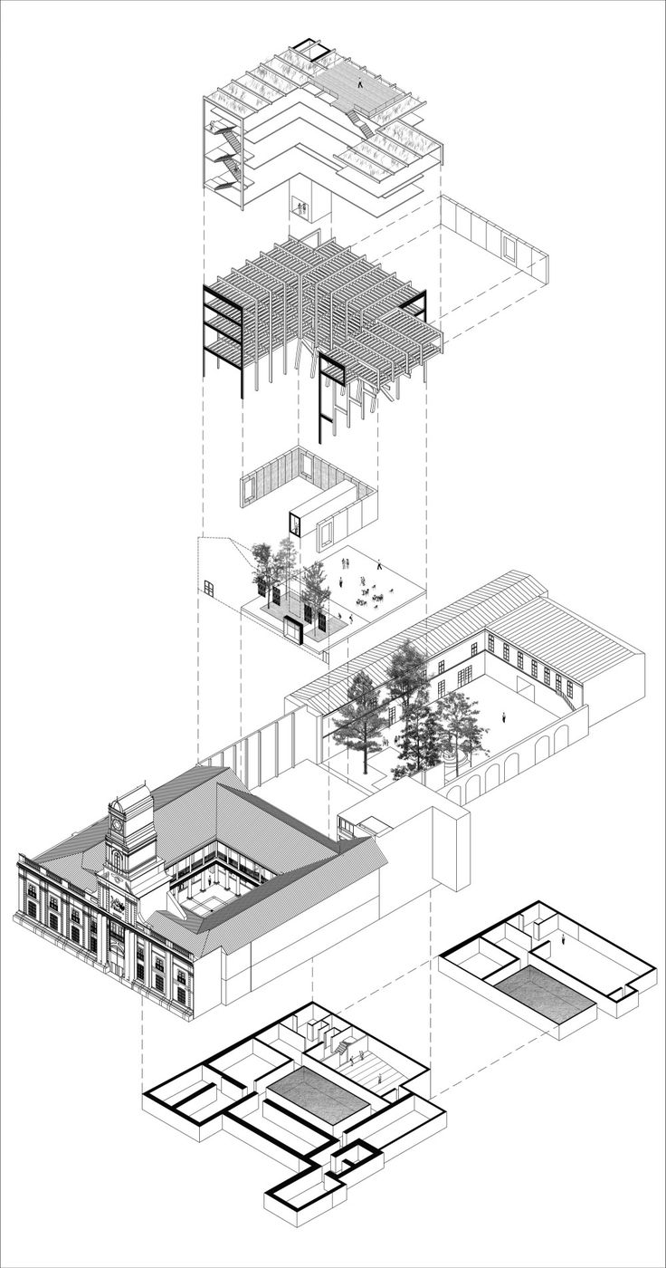 170 best images about drawings on pinterest architecture for Architektur axonometrie