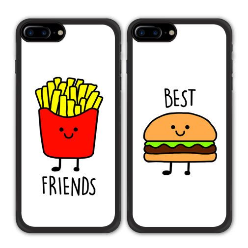 Details about Best Friend BFF Fries And Burger Case For Apple iPhone X 8 Galaxy S8 S7 Edge