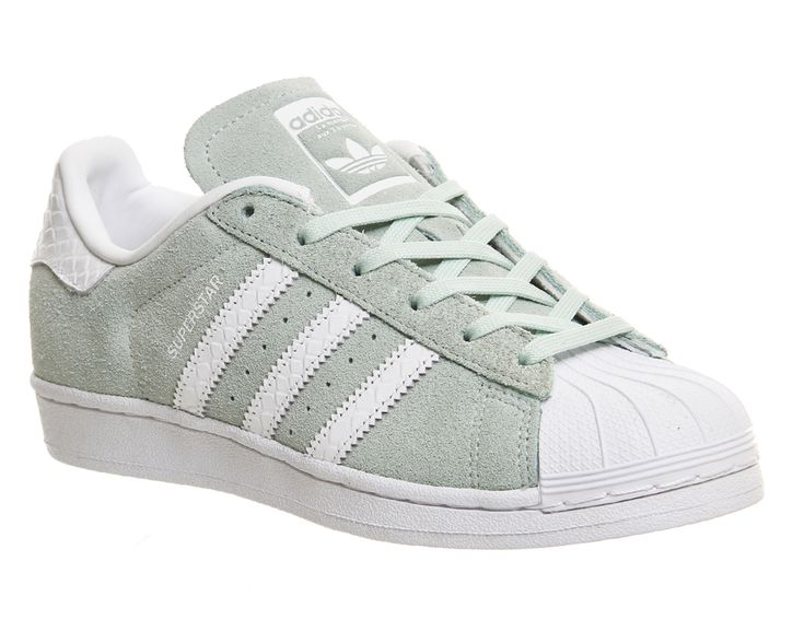 Buy Ice Mint White Snake Adidas Superstar 1 from OFFICE.co.uk.