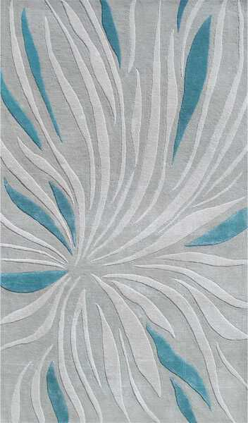 The Rug Market Closeout Tillandsia 44385 Gray And Teal Area Rug | Bold Rugs