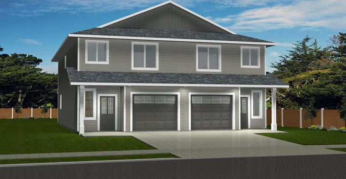 Plan 2014778 2 Storey Side By Side Duplex With Attached